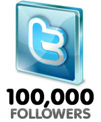 100,000 Twitter Followers